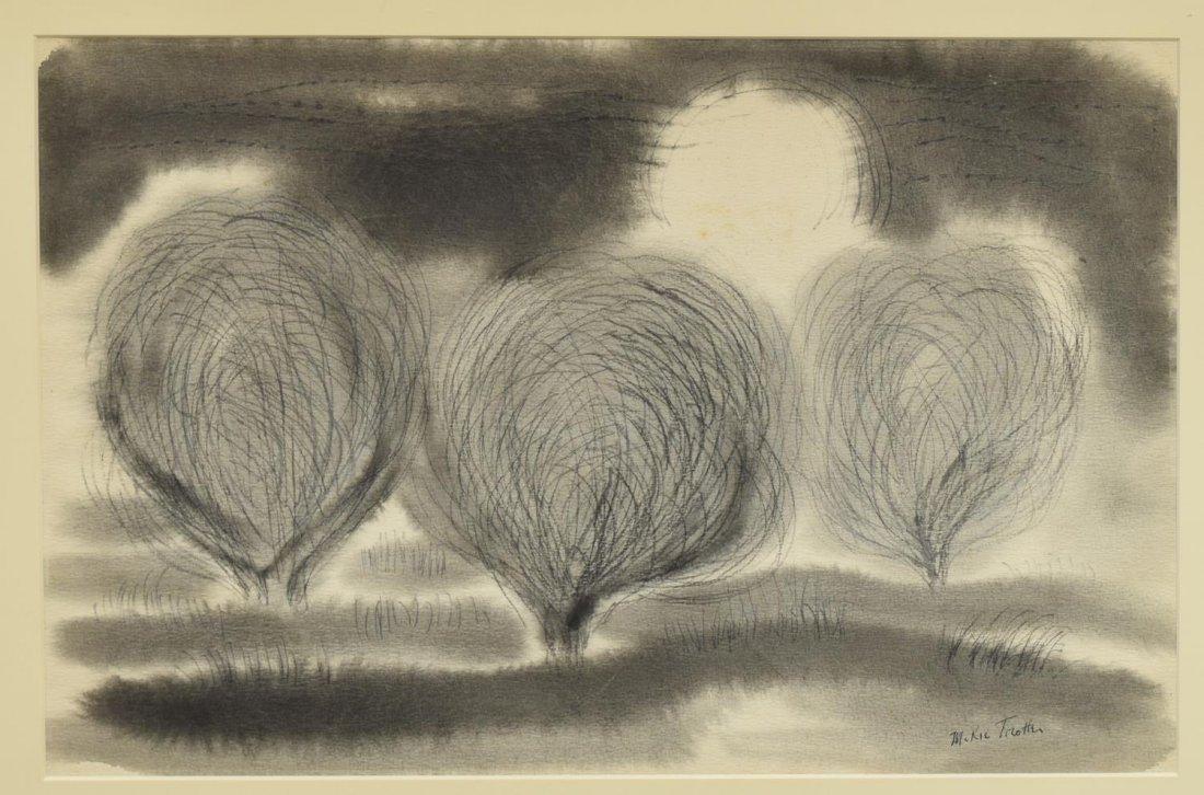 McKIE TROTTER (1918-1999), TREES, INK & GRAPHITE