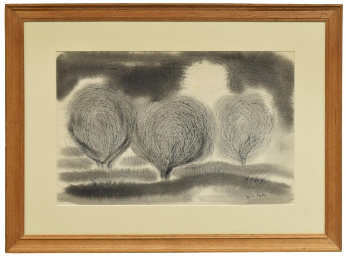 McKIE TROTTER (1918-1999), TREES, INK & GRAPHITE - 2