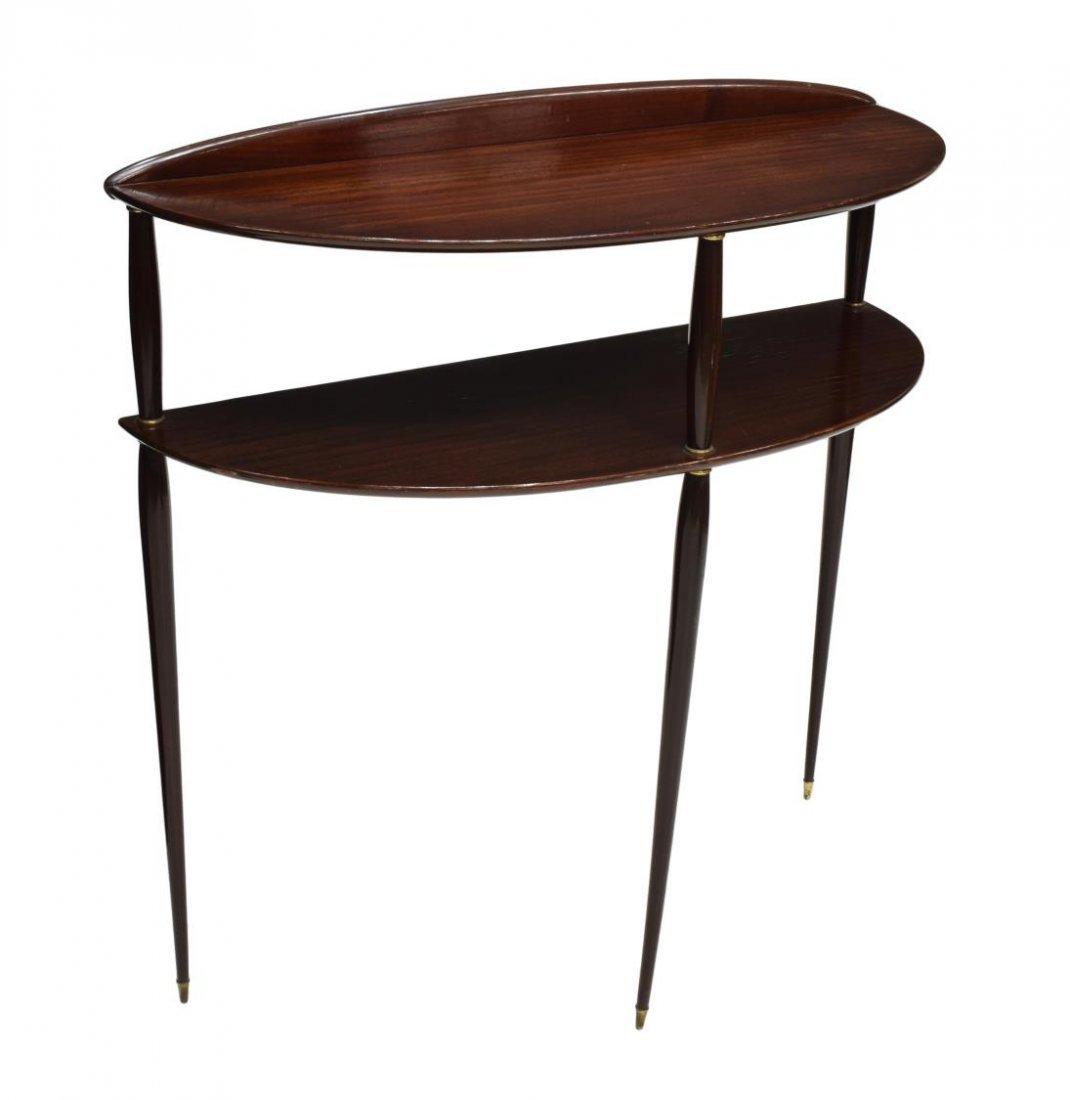 ITALIAN DESIGN ROSEWOOD DEMILUNE CONSOLE TABLE