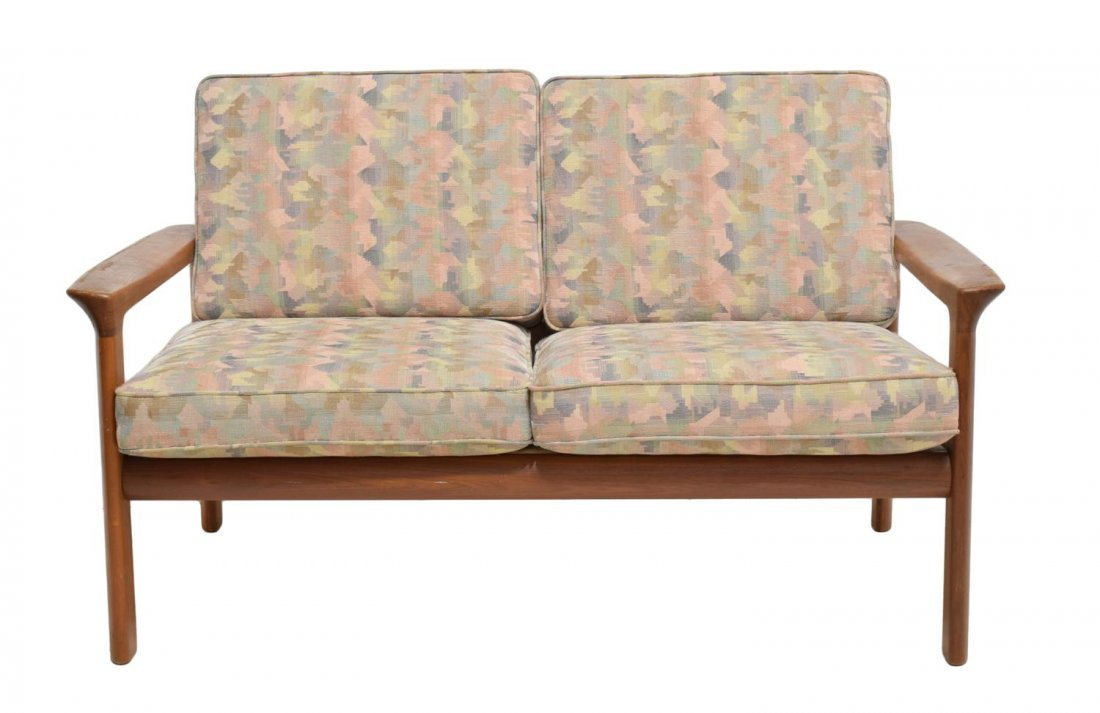 DANISH MID-CENTURY MODERN TEAK OPEN ARM SOFA - 2