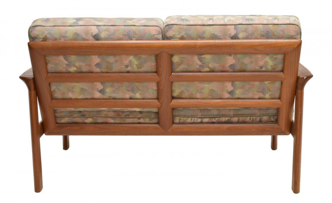 DANISH MID-CENTURY MODERN TEAK OPEN ARM SOFA - 3