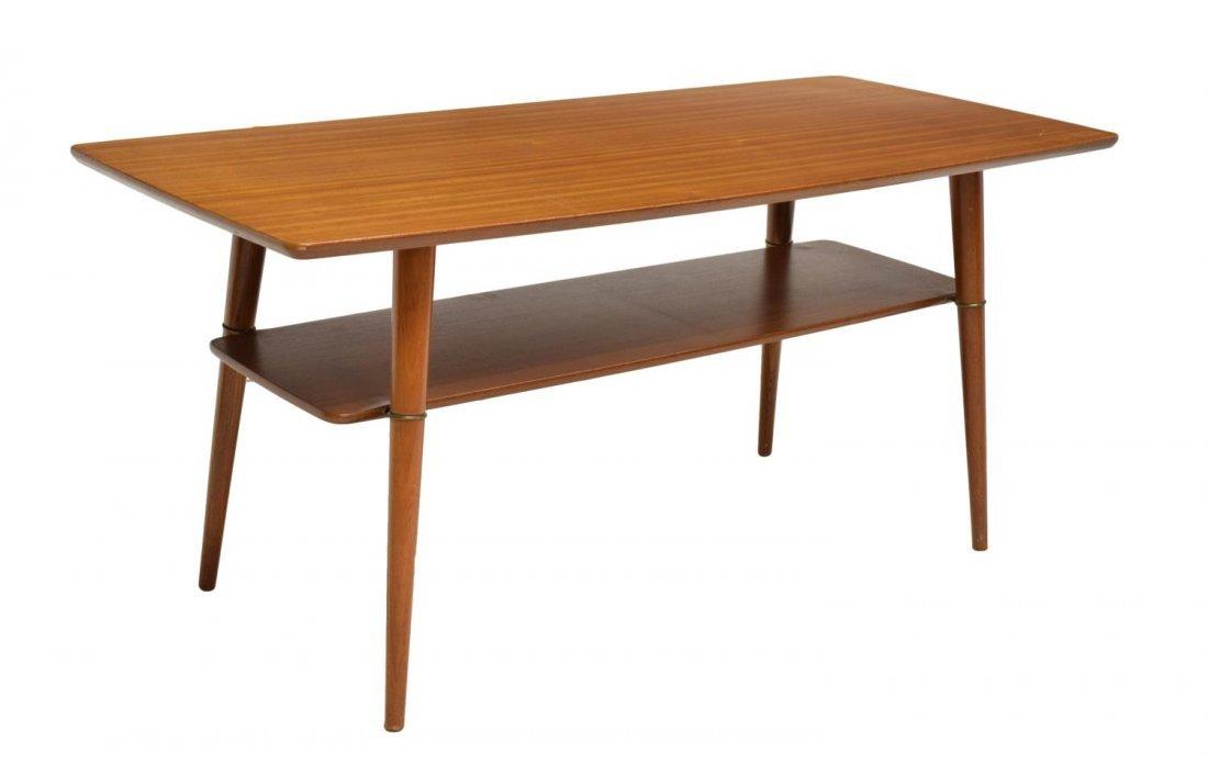 DANISH MID-CENTURY MODERN TEAK COFFEE TABLE C 1960