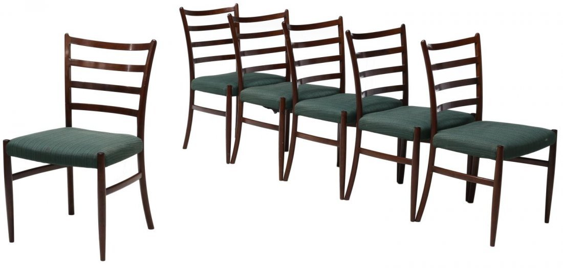 (6) DANISH MID-CENTURY MODERN ROSEWOOD SIDE CHAIRS
