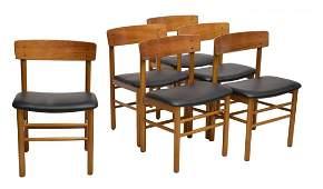 (6) DANISH MID-CENTURY MODERN TEAK DINING CHAIRS