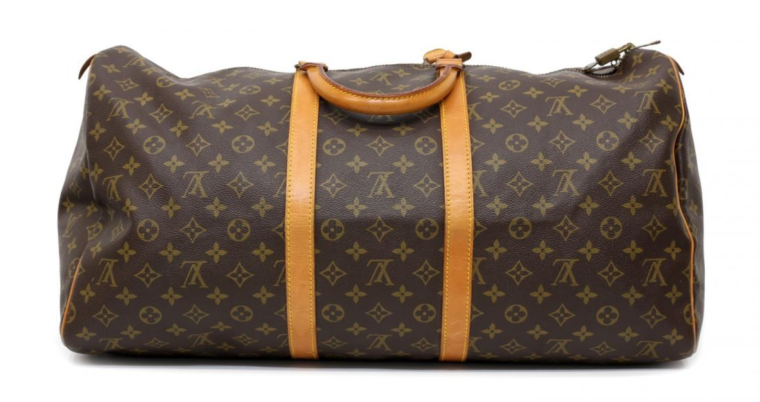 LOUIS VUITTON 'KEEPALL 55' MONOGRAM DUFFLE BAG - 2