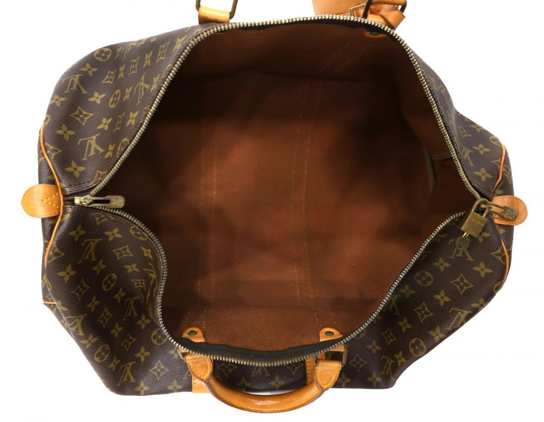 LOUIS VUITTON 'KEEPALL 55' MONOGRAM DUFFLE BAG - 4