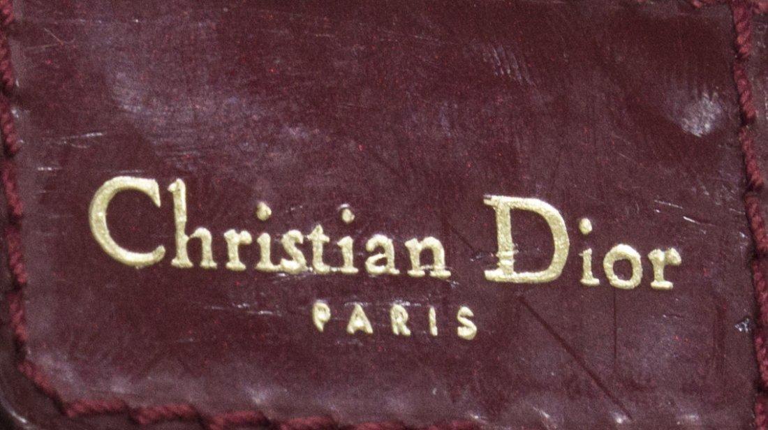 CHRISTIAN DIOR 'BOSTON' RED MONOGRAM CANVAS BAG - 4