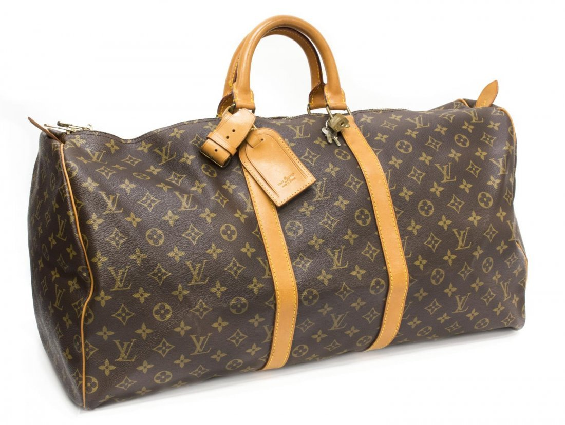 LOUIS VUITTON 'KEEPALL 55' MONOGRAM DUFFLE