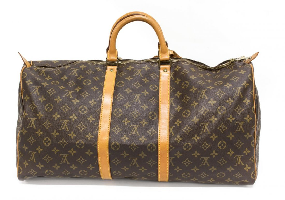 LOUIS VUITTON 'KEEPALL 55' MONOGRAM DUFFLE - 2