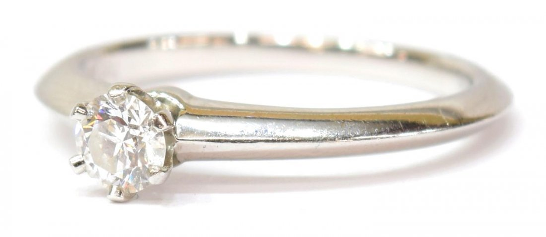 TIFFANY & COMPANY PLATINUM & GIA DIAMOND RING - 2