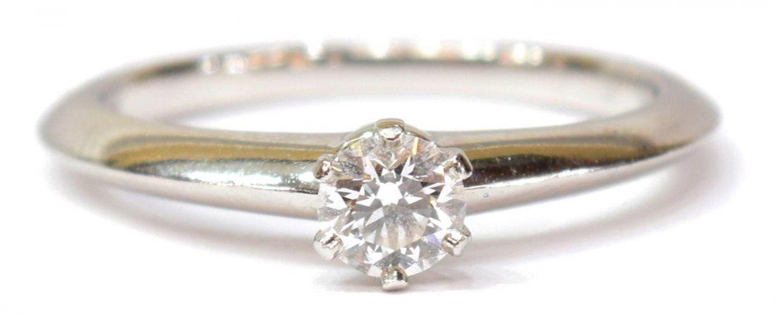 TIFFANY & COMPANY PLATINUM & GIA DIAMOND RING - 3