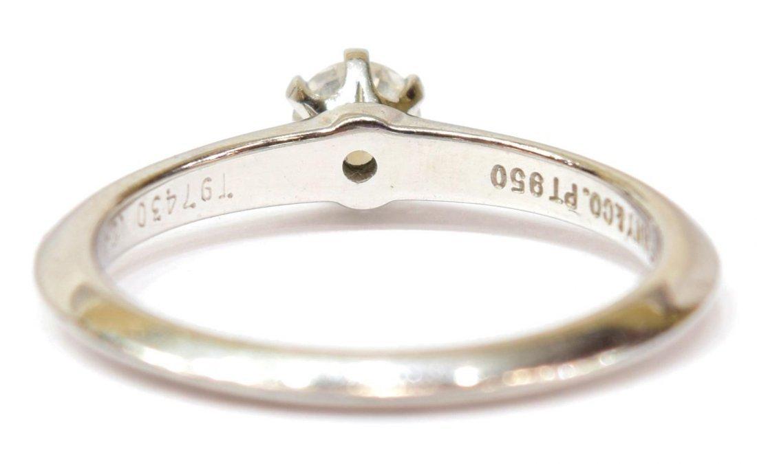 TIFFANY & COMPANY PLATINUM & GIA DIAMOND RING - 5