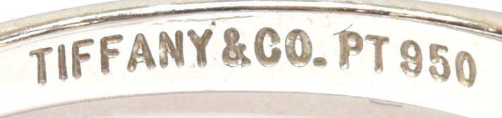 TIFFANY & COMPANY PLATINUM & GIA DIAMOND RING - 6