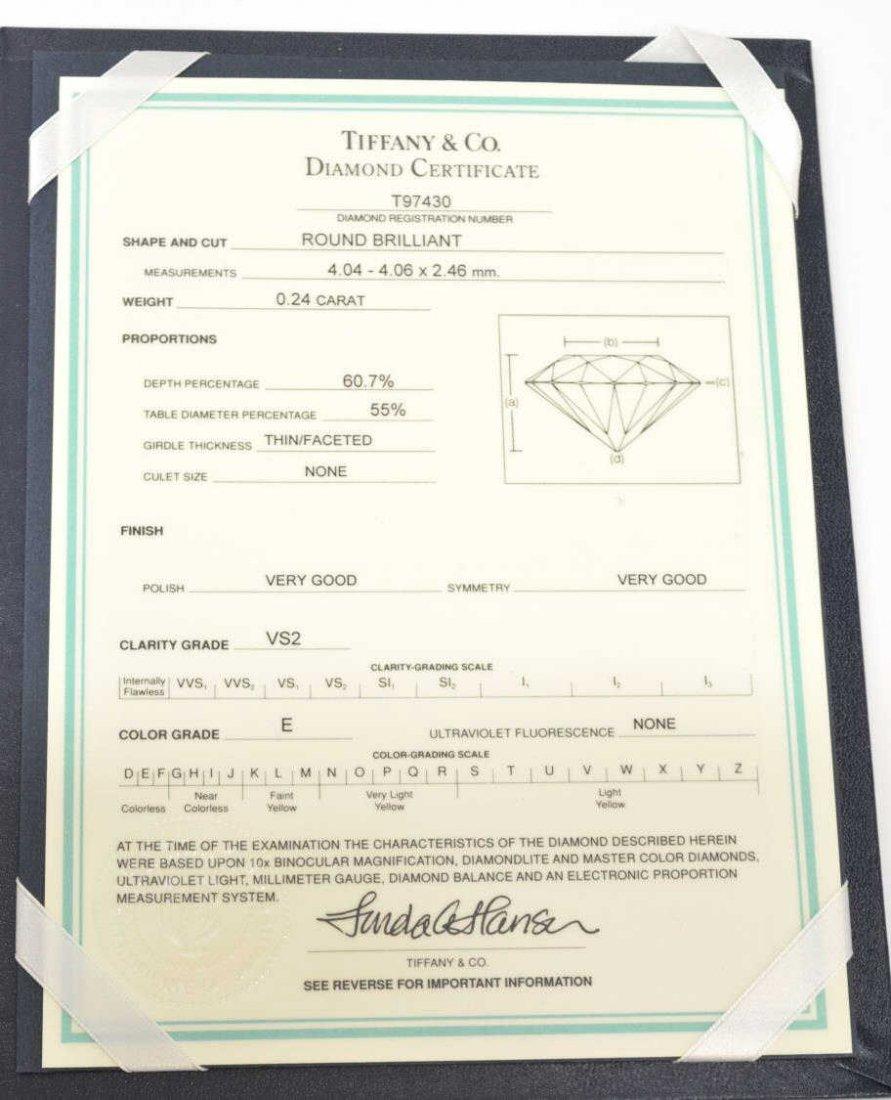 TIFFANY & COMPANY PLATINUM & GIA DIAMOND RING - 8