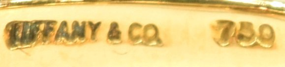LADIES TIFFANY & CO 18K GOLD PEARL & DIAMOND RING - 5