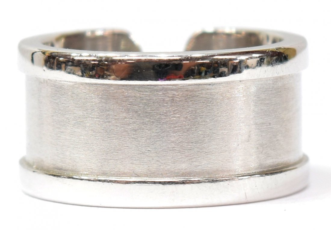 """LADIES CARTIER 18KT WHITE GOLD """"DOUBLE C"""" RING - 2"""