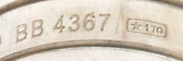 "LADIES CARTIER 18KT WHITE GOLD ""DOUBLE C"" RING - 4"