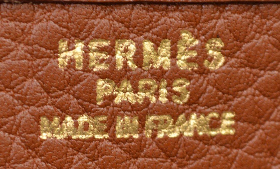 HERMES 'EVELYNE GM' TAN LEATHER SADDLE BAG C.1999 - 5