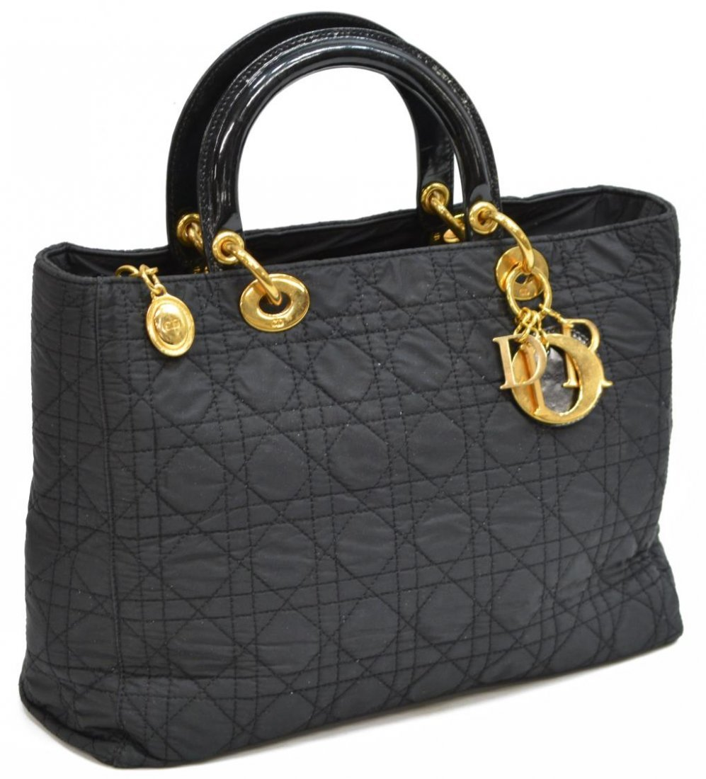 CHRISTIAN DIOR 'LADY' CANNAGE QUILTED HANDBAG