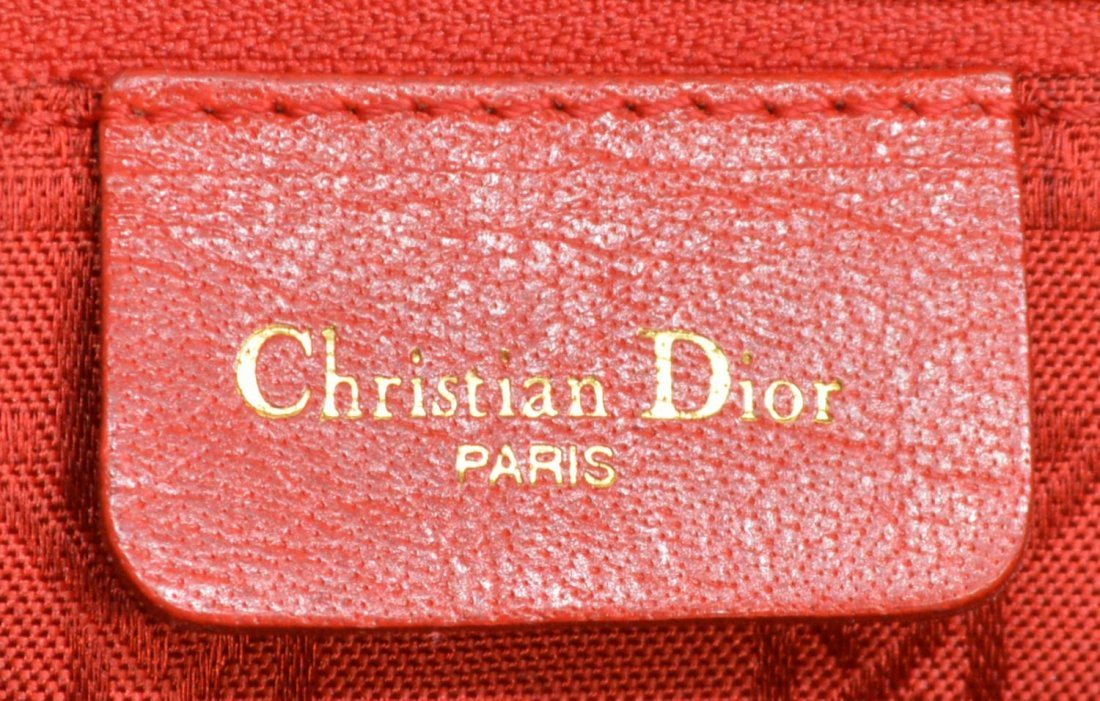 CHRISTIAN DIOR 'LADY' CANNAGE QUILTED HANDBAG - 6