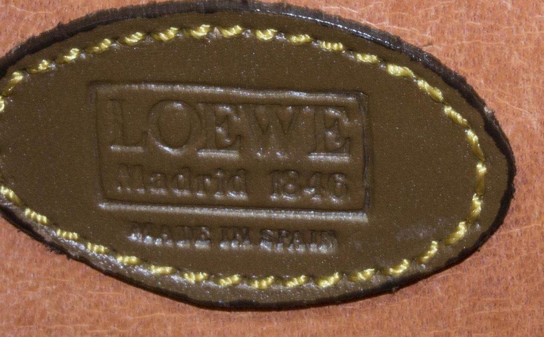 LOEWE GREEN SUEDE & BROWN LEATHER SHOULDER BAG - 4