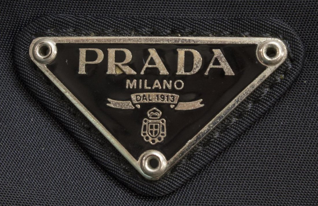 PRADA NYLON AND LEATHER TRAVELING DUFFLE BAG - 4