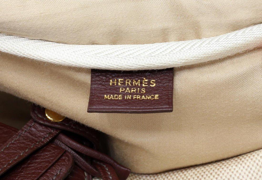 HERMES VICTORIA CANVAS & LEATHER TRAVEL BAG - 3