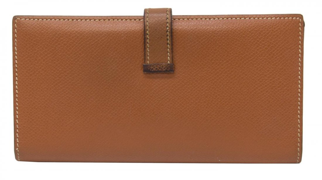 HERMES 'BEARN' CIGARE BROWN EPSOM LEATHER WALLET - 2