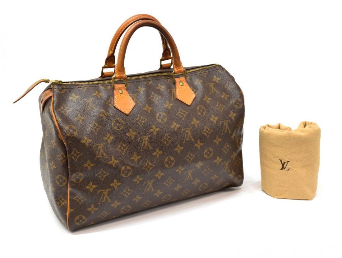 LOUIS VUITTON 'SPEEDY 35' MONOGRAM CANVAS HANDBAG