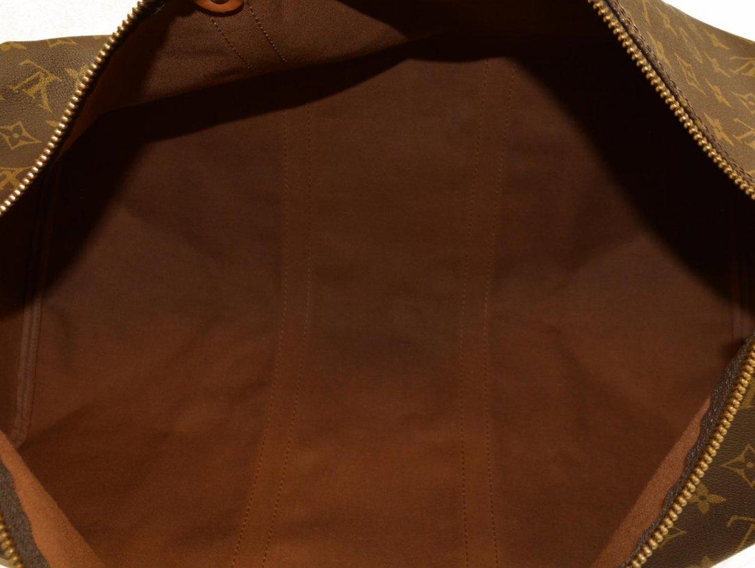 LOUIS VUITTON 'KEEPALL 50' MONOGRAM DUFFLE BAG - 5
