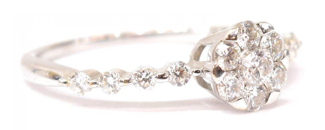 LADIES 18KT GOLD & DIAMOND FLORAL RING