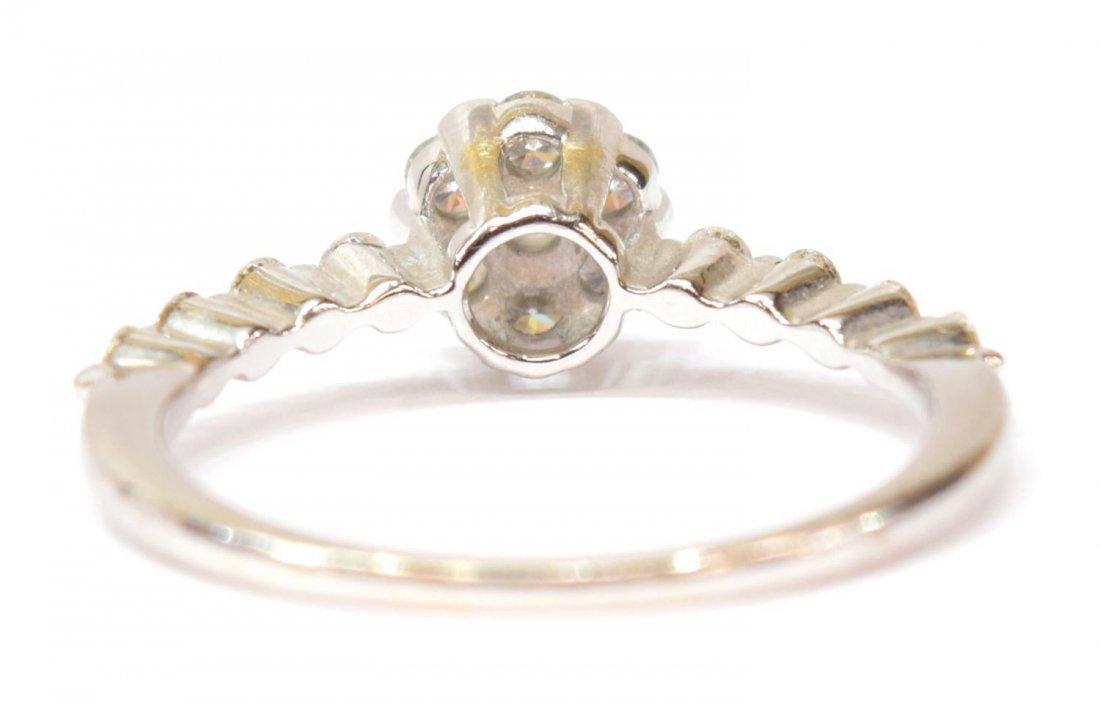 LADIES 18KT GOLD & DIAMOND FLORAL RING - 4