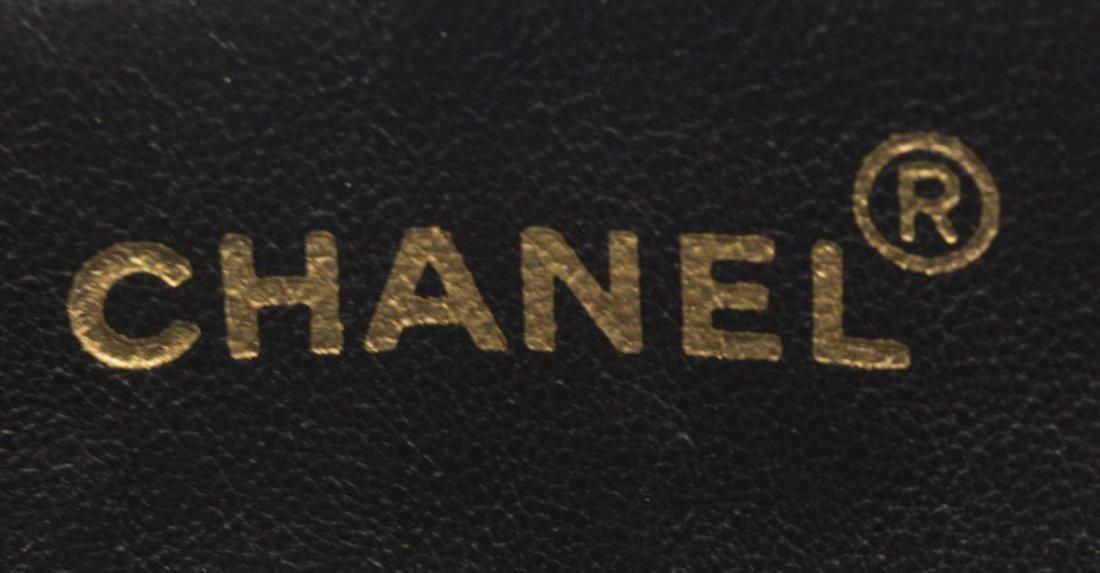 CHANEL BLACK QUILTED LEATHER SHOULDER BAG W/STRAPS - 4