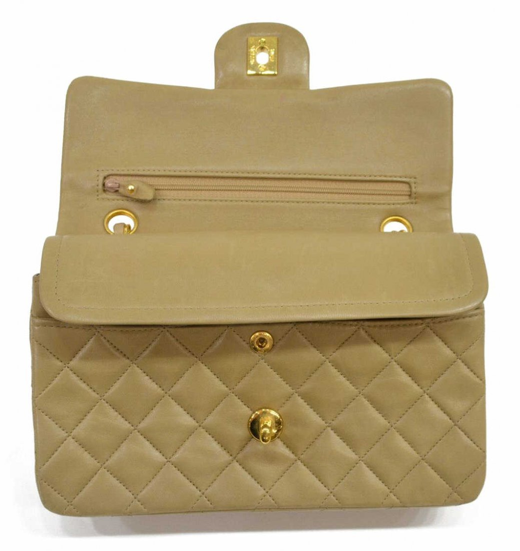 CHANEL QUILTED LEATHER CLASSIC DOUBLE HANDBAG - 10