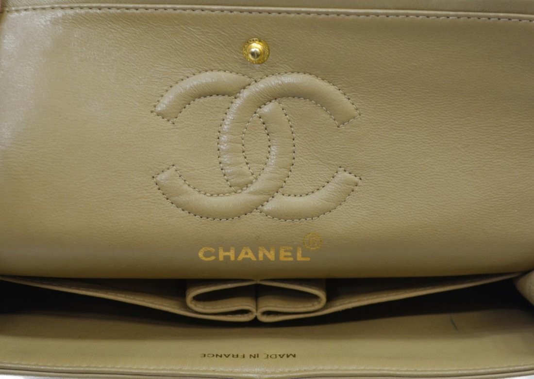 CHANEL QUILTED LEATHER CLASSIC DOUBLE HANDBAG - 6