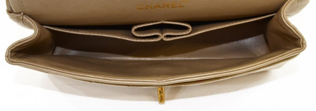 CHANEL QUILTED LEATHER CLASSIC DOUBLE HANDBAG - 7