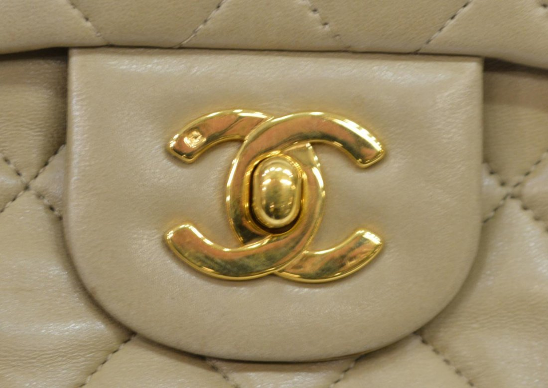 CHANEL QUILTED LEATHER CLASSIC DOUBLE HANDBAG - 9