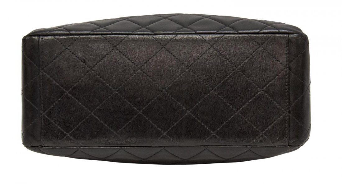 CHANEL QUILTED BLK LEATHER FLAP FRONT SHOULDER BAG - 3