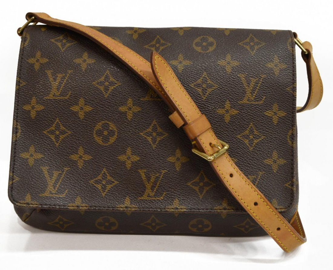 LOUIS VUITTON 'MUSETTE TANGO' MONOGRAM BAG