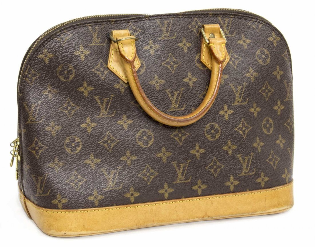 LOUIS VUITTON 'ALMA MM' MONOGRAM CANVAS HANDBAG