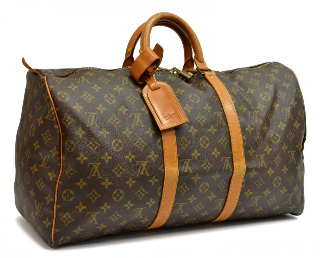 LOUIS VUITTON 'KEEPALL 50' MONOGRAM DUFFLE BAG