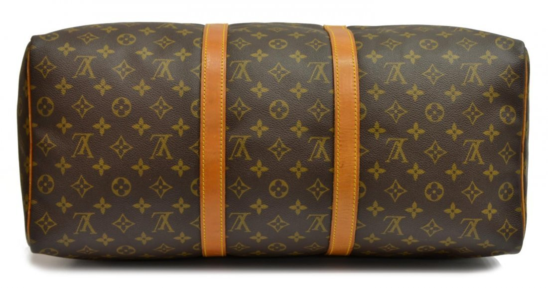 LOUIS VUITTON 'KEEPALL 50' MONOGRAM DUFFLE BAG - 3