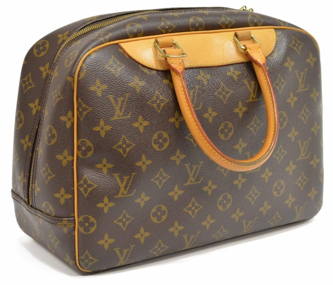 LOUIS VUITTON 'DEAUVILLE' MONOGRAM CANVAS HANDBAG - 2