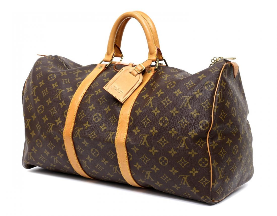 LOUIS VUITTON MONOGRAM 'KEEPALL 50' DUFFLE BAG