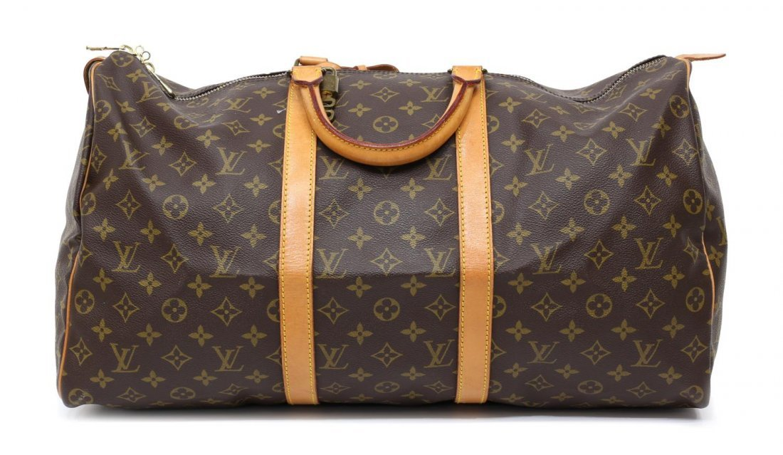LOUIS VUITTON MONOGRAM 'KEEPALL 50' DUFFLE BAG - 2