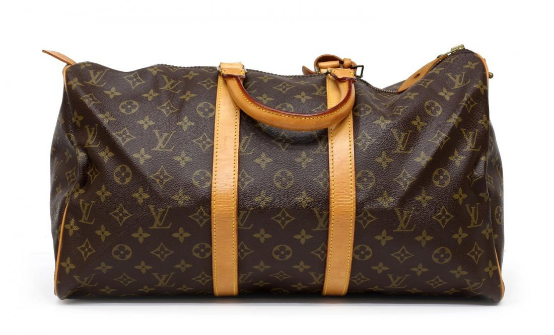 LOUIS VUITTON 'KEEPALL 45' MONOGRAM DUFFLE BAG - 2