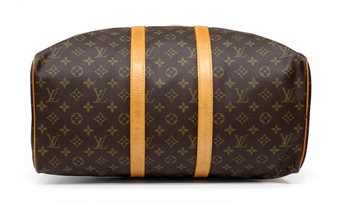 LOUIS VUITTON 'KEEPALL 45' MONOGRAM DUFFLE BAG - 3
