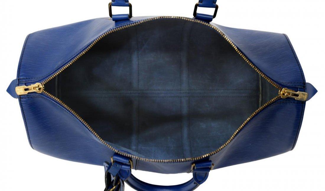 LOUIS VUITTON 'KEEPALL 45' EPI LEATHER DUFFLE BAG - 4