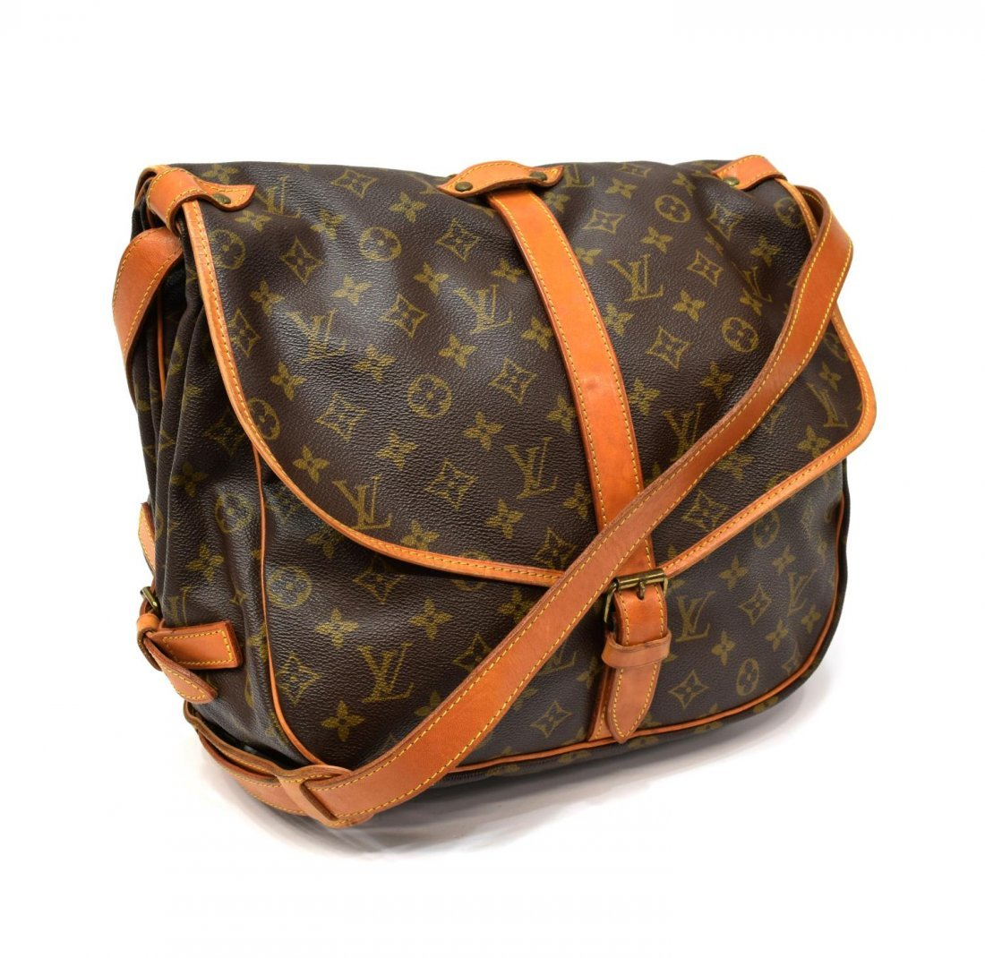LOUIS VUITTON 'SAUMUR 35' MONGRAM CANVAS MESSENGER