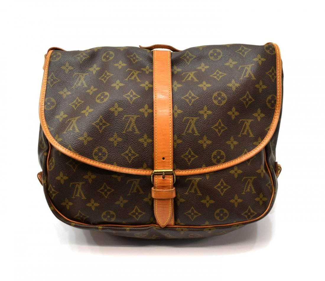 LOUIS VUITTON 'SAUMUR 35' MONGRAM CANVAS MESSENGER - 2